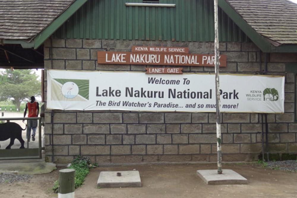 Gates in Lake Nakuru National Park