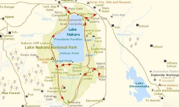 Location of Lake Nakuru National Park